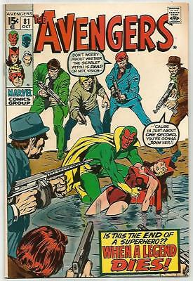 AVENGERS #81    Beautiful Early Silver Age KILLER  VF/NM9.0