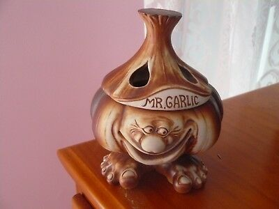 Swagman Pottery Vintage Mr Garlic Canister Australiana - Rare