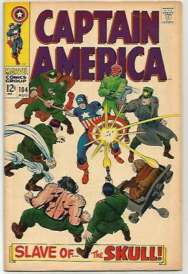 CAPTAIN AMERICA #104    Beautiful Early Silver Age  Solid FN/VF7.0