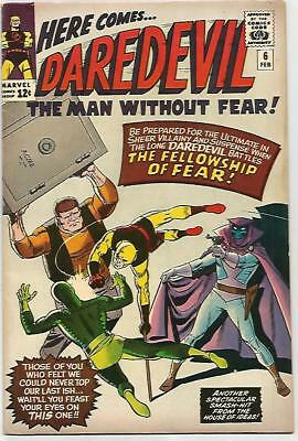 DARE DEVIL # 6    Beautiful Early Silver Age  Solid FN/VF7.0 to VF7.5