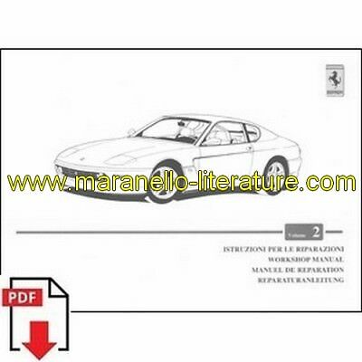1998 Ferrari 456M workshop manual vol2 1338/98 PDF (it/fr/uk/de)