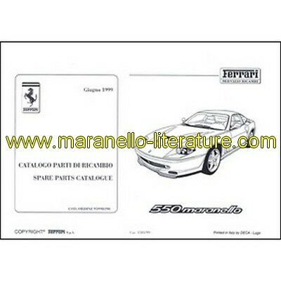 1999 Ferrari 550 Maranello spare parts catalogue 1501/99 PDF (it/fr/uk)