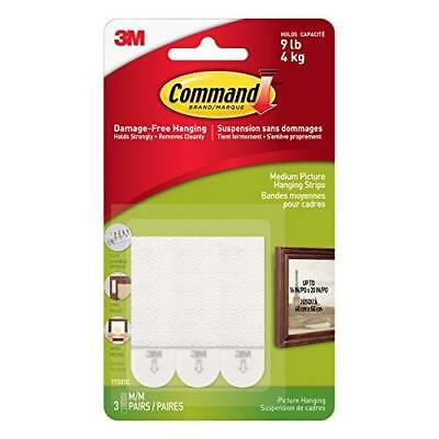 """Command Medium Picture Hanging Strips .5""""X2.75"""" 3 Sets/Pkg-White"""