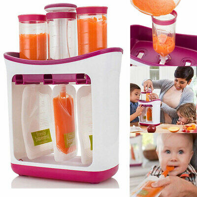 Infant Baby Food Feeding Station Maker Pouches Homemade Fresh Squeeze Storages