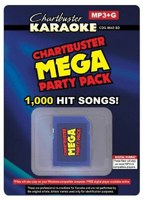 Karaoke Party Pack - 1005 MP3G Songs on SD Card For Singing Machine