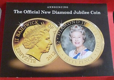 Announcing The Official New DIAMOND JUBILEE Coin Postcard Queen Westminster