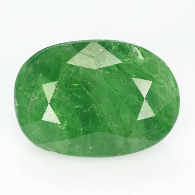 6.34Ct TOP GORGEOUS ! STUNNING NATURAL UNHEATED GREEN TSAVORITE GARNET