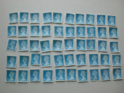 50 x UNFRANKED 2nd CLASS STAMPS OFF PAPER  (Face value £29) -  GREAT BRITAIN MIX