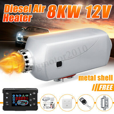 8KW 12V Diesel Air Heater Metal Shell Smart LCD 8000W For Truck Boat Car Trailer