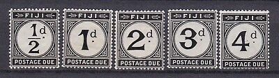 FIJI POSTAGE DUES (ref 45) STAMPS 1 & 4 & 5 MM  2 & 3 MNG