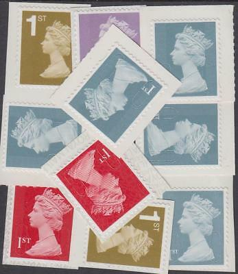 Great Britain Stamps for Postage - 10 x 1st Class Self-adhesive Mint Stamps