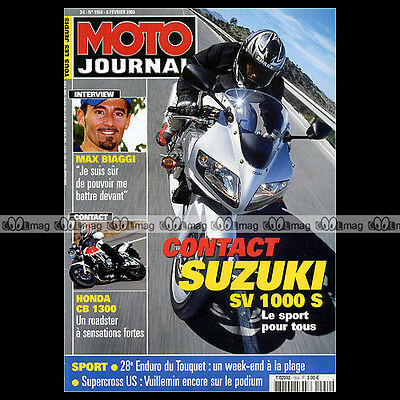 Moto Journal N°1554 Honda Cb 1300 Super Four Suzuki Sv 1000 S Enduro Touquet '03