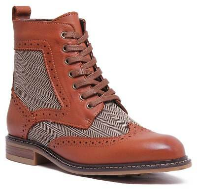 7cec726cc63 ARIAT PROBABY LACER Women Leather Brown Ankle Boots UK Size 3 - 8 ...