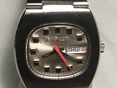 New Old Stock Swiss Made Barlux 21 Jewels Wind-Up Men's Wristwatch Cal. As 2064