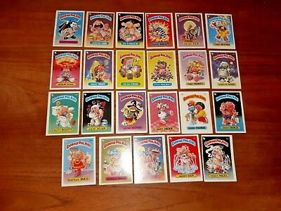 24 Garbage Pail Trade cards (1a to 24a)