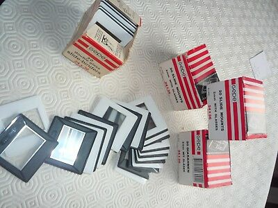 4 x unused boxes of Gepe slide mounts with glass for 35mm slides (80 in total)