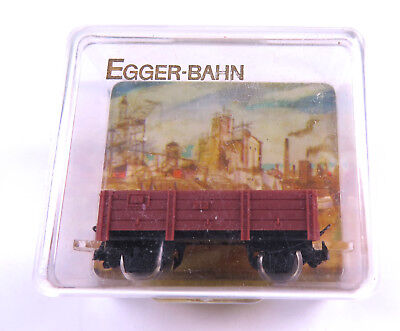 EGGER-BAHN, Niederbordwagen, braun, Art.Nr.2203, in Originalkunststoffbox