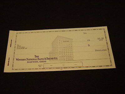 Vintage Unused Book Of 5 Defunct Winters National Bank Dayton OH Counter Checks