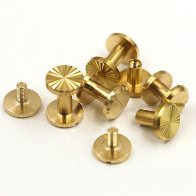 Solid Brass Chicago Screws Studs Leather Craft Belt Post Horse Tack Binding Book