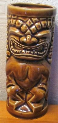 Vintage Retro Kitsch Orchids of Hawaii Japan Tiki Face God Bar Cocktail Beaker