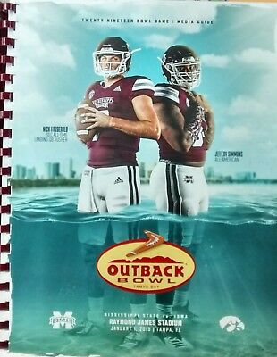 2019 Outback Bowl Football Media Guide Miss. State vs. Iowa