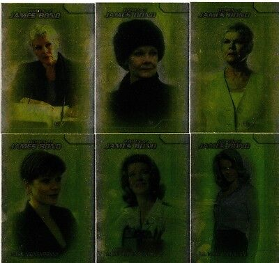 James Bond The Women of In Motion Full 6 Card Women of MI6 Foil Chase Set