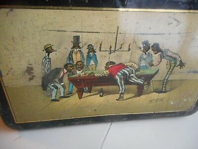 "Vintage Tin Litho ""Black Americana"" Storage Can.  Best Black Americana Tin Can"