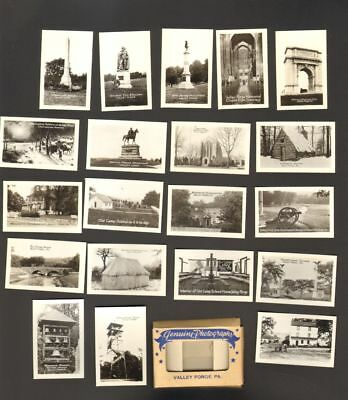 Undated Travel Souvenir Genuine 20 Miniature Photographs Valley Forge PA