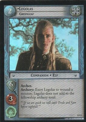 2002 Decipher==Lord Of The Rings==Tcg Promo Foil==Legalos: Greenleaf