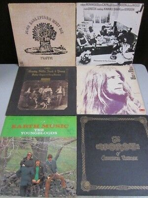 Lot of 6 Vinyl Rock Records - 1960-1970s Era - Traffic - CSN&Y - Youngbloods