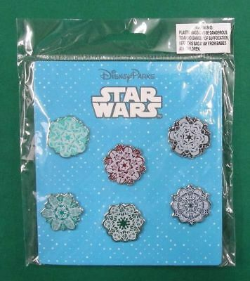Disney Trading Pins Star Wars Snowflakes Booster Pin Set  *NEW*
