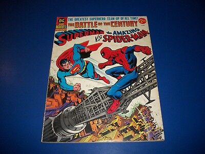 Superman vs Spider-man #1 Stan Lee Marvel/DC Presents VG Key Wow