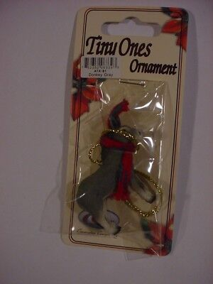 DONKEY Scarf Ornament HAND PAINTED FIGURINE Christmas COLLECTIBLE Burro ANIMAL