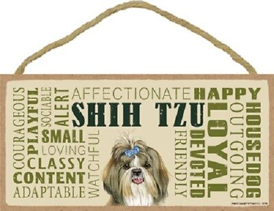 SHIH TZU Subway Style DOG SIGN wood WALL HANGING PLAQUE Shihtzu puppy USA MADE
