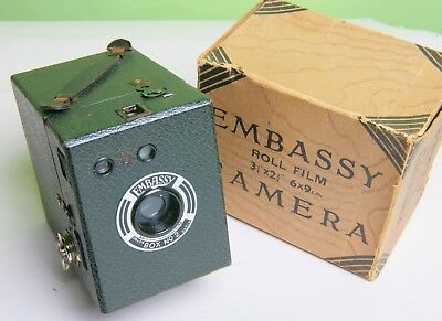 Excellent Embassy Box Camera With Original Box