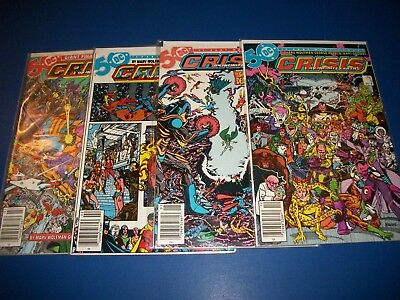 Crisis on Infinite Earths #9,10,11,12 lot of 4 Justice League VF+ to NM- Gems