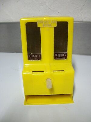"""Vntage Yellow 1950's HERSHEY CHOCOLATE BAR BANK 6.5"""" TOY by FELSENTHAL & SONS"""