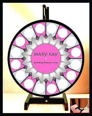 """Spinning Tabletop Portable Mary Kay Starburst Center Prize Wheel 18"""""""