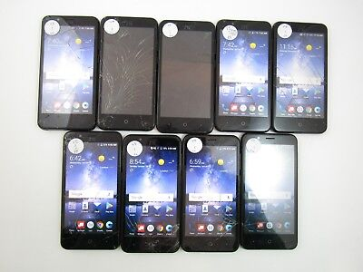 Lot of 9 Cracked ZTE Blade Vantage Z839 Verizon Check IMEI CR 3-804