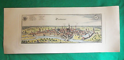 Old Dinkelsbuhl Dunkelsbuhl Bavaria Germany German Cartograph Engraving Art Map