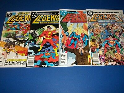Legends #2,4,5,6, lot of 4 VF/VF+ Beauties