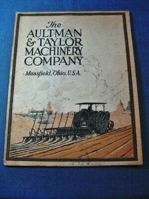 Aultman & Taylor Machinery Catalog Tractor Thresher Mansfield OH  Ohio
