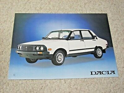 1980's DACIA BERLINA (ROMANIA) SALES BROCHURE..