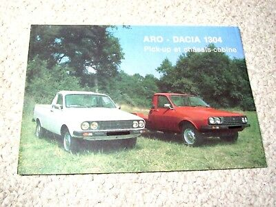 1980's DACIA PICK-UP 1304 (ROMANIA) SALES BROCHURE..