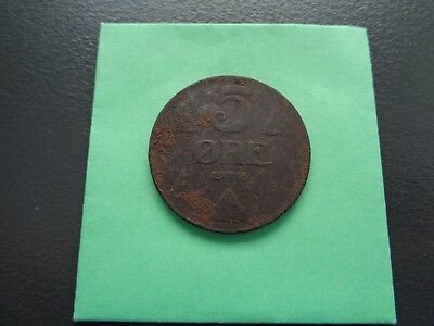 1918 Norway 5 Ore Iron coin Key Date!