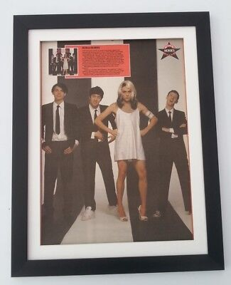 BLUR*dressed as Blondie*ORIGINAL*NEWSPAPER POSTER*FRAMED*FAST WORLD SHIP