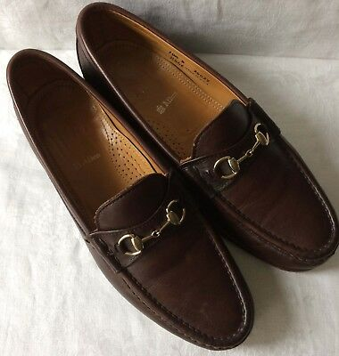 4c5c615f4c4 Alden Cape Cod Collection Men s Size 10.5 Brown Leather Horsebit Loafers  Shoes