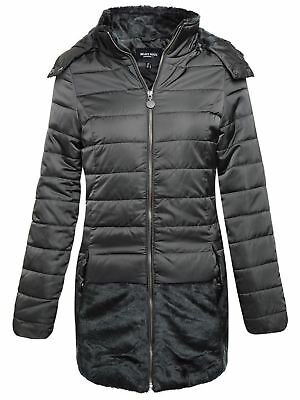 149614407 LADIES PARKA JACKET Brave Soul Womens Coat Padded Hooded Quilted ...
