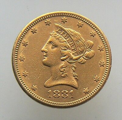 1881-S $10 Dollar Liberty Gold Eagle Coin