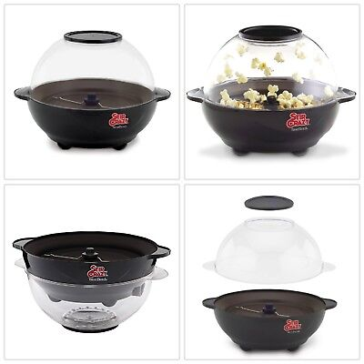 Electric Popcorn Popper Stir Plastic Durable Automatic Heat Resistant Handle 6Qt